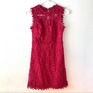 Red lace party going out dress